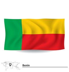 Flag of Benin vector image