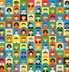 Flat design colorful background different people vector