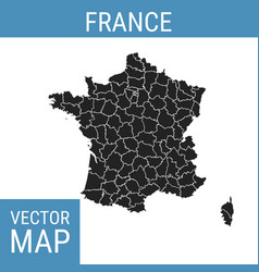 france map with title vector image