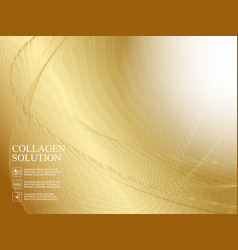 golden abstaraction with lines waves and vector image