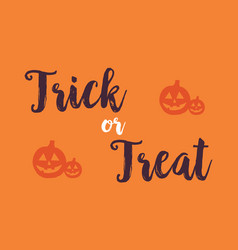 Halloween with pumpkin background card vector