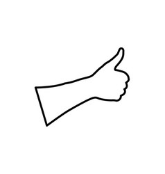 hand - thumb up vector image