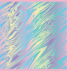 holographic marble pattern in bright rainbow color vector image