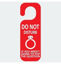 Hotel tag do not disturb with ring icon vector