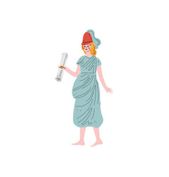 Klio muse of greek mythology vector
