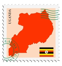 Mail to-from Uganda vector