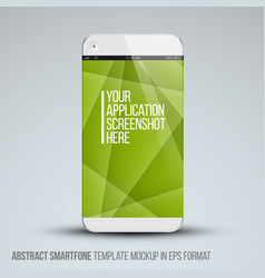 Modern abstract mobile phone template vector