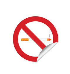no smoking sign abuse sticker vector image