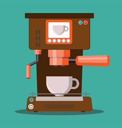 office coffee machine in flat vector image