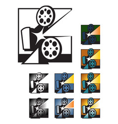 old cinema projector vector image