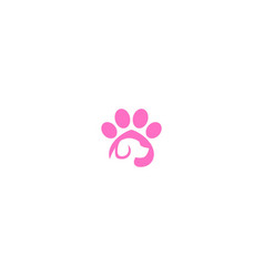 pet animal dog footprint logo vector image