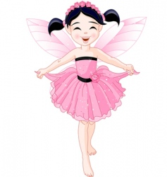 pink fairy vector image