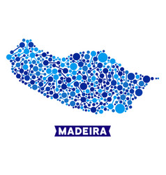 portugal madeira island map links collage vector image