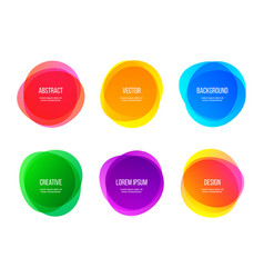 round colorful abstract shapes color gradient vector image