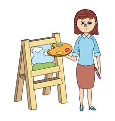 school teacher cartoon vector image