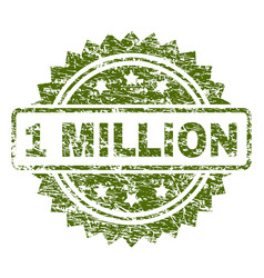 Scratched textured 1 million stamp seal vector