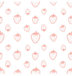 Seamless pattern with strawberry background vector