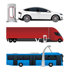 Set of electric vehicles vector