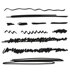 Set of hand drawn underline vector