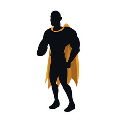 Silhouette of a superhero posing vector
