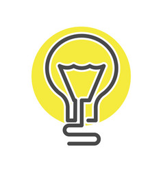 simple light bulb isolated icon vector image