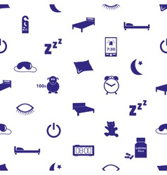sleeping time blue icons seamless pattern eps10 vector image