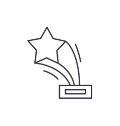 star award line icon concept star award vector image