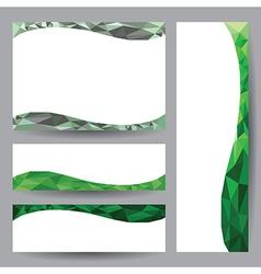 Template card green element design vector