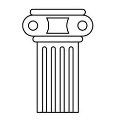 Temple pillar icon outline style vector