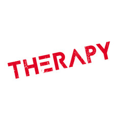 Therapy rubber stamp vector