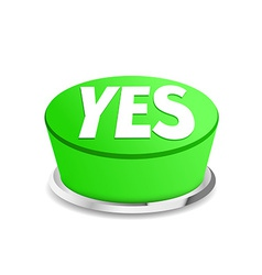 Time to say yes button sign template vector image