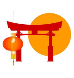 Tori gate icon vector