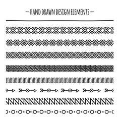 tribal brushes border ethnic hand drawn vector image