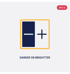 Two color darker or brightter button icon from vector