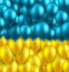 Ukrainian colorful flag with balloons vector image