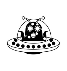 Unidentified flying object with alien vector