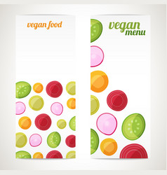 vegan food banners vector image