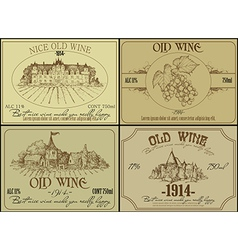 Vintage wine design elements vector