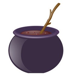 witches brew and wooden stick vector image