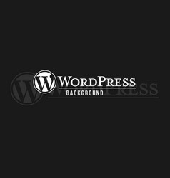 Wordpress logo background image vector