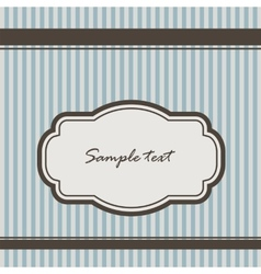 background with stripes and vintage frame vector image