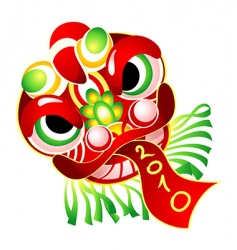 Chinese New Year mask 2010 vector image vector image