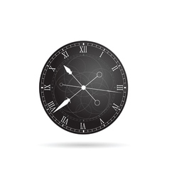 clock antique in grey vector image vector image