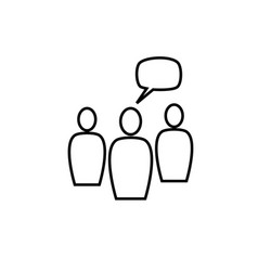 group leader icon vector image