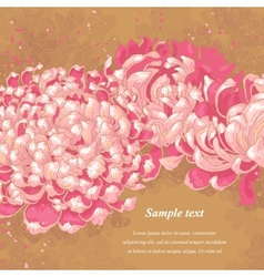 Romantic background with chrysanthemum vector image vector image