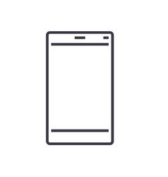 smartphone line icon sign vector image