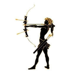 Sports archery silhouettes vector image