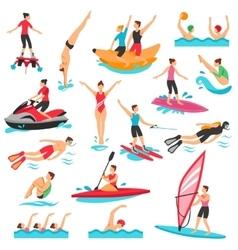 Water Sport Set vector image vector image