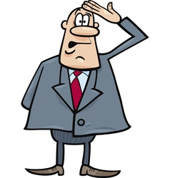 funny confused businessman vector image