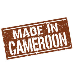 made in cameroon stamp vector image vector image
